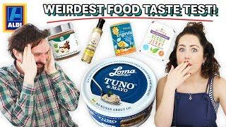 We Tried The Weirdest Food We Found In ALDI! I regret this so much.. (vegan food taste test)