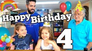 ABIGAIL TURNS 4 TODAY - 4th Birthday Party Vlog