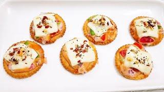 Monaco Biscuit Pizza | 5 min Delicious snack recipe | Snacks for Party | MyFoodStory