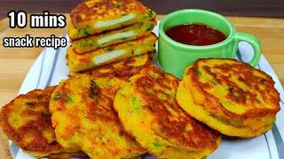 10 mins breakfast recipe,less oil snack recipe, Quick and easy healthy breakfast