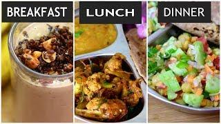 What I Eat In A Day - Indian Weight Loss Diet Plan/Meal Plan-Recipes To Lose Weight - Skinny Recipes