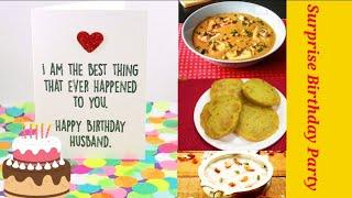 Surprise Birthday party | Simple Dinner with recipe Vlog by Shinys Menu | Husband Special.