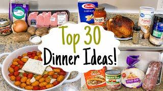 What's For Dinner? 30 of the BEST Quick & Easy Recipes! | Tasty Cheap Meal Ideas | Julia Pacheco
