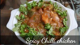 Sweet n spicy chilli chicken...a fried chicken recipe for dinner