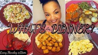 WHAT'S FOR DINNER? | DINNER IDEAS + RECIPES | QUICK & EASY DINNER MEALS HOMEMADE | DINNER | AUG 2019