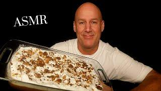 ASMR: HOMEMADE CHOCOLATE HEATH BAR CAKE (EATING SOUNDS) SOFT SPOKEN