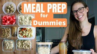 MEAL PREP FOR DUMMIES | Easy, Plant-Based Meal Prep in 1 Hour!