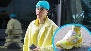 Justin Bieber Color-Coordinates In Every Shade Of Yellow