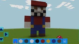 RealmCraft with Skins Export to Minecraft Gameplay #248 (iOS & Android) | Baby Mario Statue