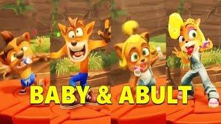 Crash Team Racing Nitro Fueled - ALL BABY & ABULT COSTUMES CRASH AND COCO