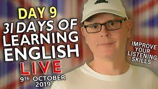 31 Days of Learning English - 9th October - improve your English - KITCHEN ITEMS / WORDS - day 9