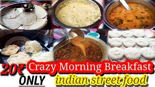 South Indian Street food in Hyderabad/Early morning cheap street food breakfast/Roadside food india
