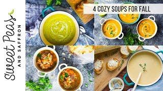 4 Cozy Fall Soup Recipes | Lightened up + Meal Prep Tips