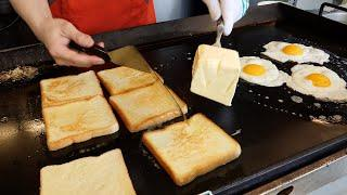 치즈 베이컨 토스트 / cheese bacon toast / korean street food
