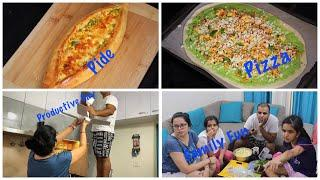 Weekend Family Fun Vlog | Productive Day , Yummy Restaurant Style Dinner Recipes | Pide | Pizza