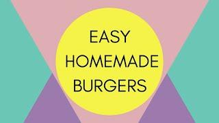 BASIC BURGER ANYONE CAN MAKE || HEALTHY AND AFFORDABLE