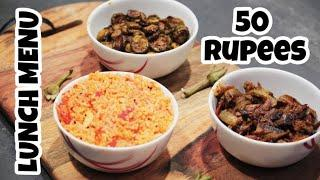 Lunch menu for 50 rs vlog style/Budget cooking/lunch menu in tamil
