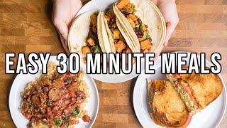 3 Easy 30 Minute Vegan Dinner Ideas