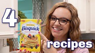4 EASY BISQUICK RECIPES | QUICK & TASTY RECIPES | COOK AND BAKE WITH ME