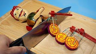 Stop Motion Cooking - The Making of Bun Cha From Vietnamese Folk Toys ASMR 4K