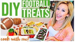 DIY EASY FOOTBALL TREATS! NFL COOK WITH ME! | Brianna K