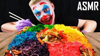 JOKER EATS RAINBOW NOODLES (Mukbang, Eating Sounds) NO TALKING | Multi-Do ASMR