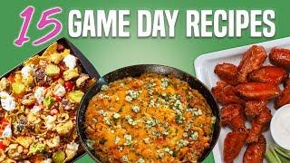 15 Game Day Snacks and Appetizers | Football Party Ideas Recipe Compilation | Well Done