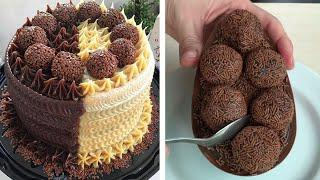 Most Satisfying Chocolate Desserts Videos - Top 10 So Yummy Chocolate Cake Decorating