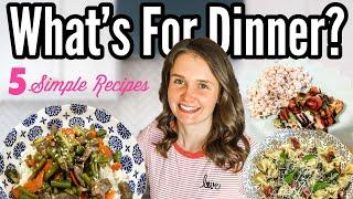 WHAT'S FOR DINNER?! | *FIVE* Easy Meals Anyone Can Make | Save Money Meal Planning | Julia Pacheco