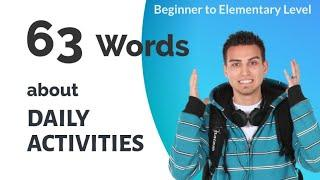 English Lesson - 63 Words about Daily Activities