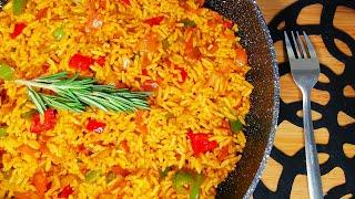 PARTY RICE | SPICY RICE | NANDOS RICE RECIPE || QUICK DINNER IDEAS || SIDE DISHES