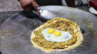 Most Hygienic 3 Layer Omelette Dishes | Egg Street Food | Indian Street Food
