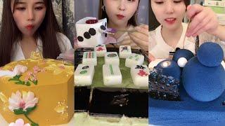 Desserts & Sweets Eating Show Mukbang ASMR | Coconut Pudding, Watermelon Cake,  Durian - Part 76