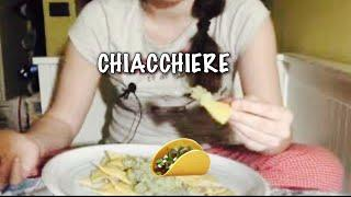 ASMR ITA chit chat | food | eating sounds | chiacchiere | quarantena | video tranquillo