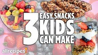 3 Easy Snacks Kids Can Make | Recipe Compilations | Allrecipes.com