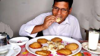 Wow! Cooking & Eating Yummy Summer Special Pitha Recipe - Eating Delicious Food in Home