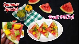 Fruit PIZZA Kids special | summer special recipe | how to make pizza #aartisethiaskitchen #pizza