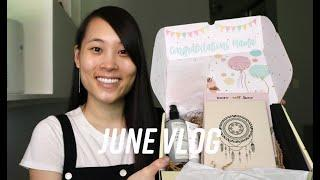 June Vlog (falafel, Whole Foods grocery delivery, and unboxing my Oh Baby Box!)