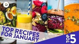 Top 5 MEAT-FREE Recipes for JANUARY!!