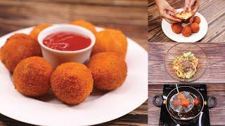 Cheese Balls Recipe | Cafe Style Perfect Snacks | T'stove