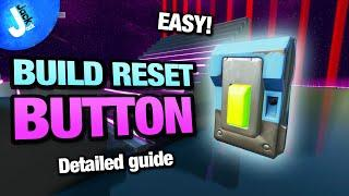 How To Make a 1v1 BUILD RESET BUTTON | BHE 1v1 Map | Fortnite Creative - EASY DETAILED Tutorial
