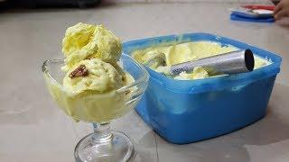 Butter Scotch Ice Cream | बटरस्कॉच आइसक्रीम | Homemade Butterscotch Ice Cream, Easy Desserts
