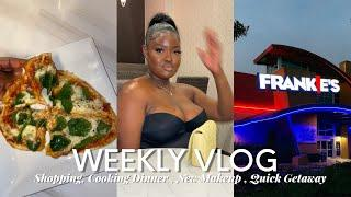 WEEKLY VLOG 6! FAMILY GETAWAY + SHOPPING + COOKING DINNER , NEW MAKEUP & MORE