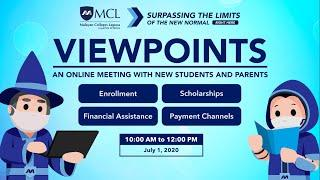 Viewpoints: An Online Meeting with New Students and Parents (July 1, 2020)