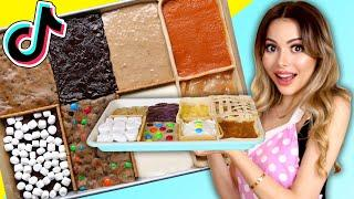 I tried the 8 Desserts in 1 PAN Edible Viral Food Art on TIKTOK | 8 in 1 Tasty Treats