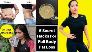 21 Days Diet Challenge For Full Body Fat Loss | 5 Secret Hacks| Weight loss journey  | Somya Luhadia