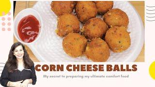 Cheese Corn Balls | Quick Easy To Make Party Appetizer Recipe | Cheese Poppers