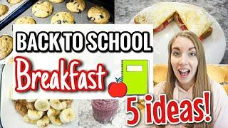 5 QUICK AND EASY BACK TO SCHOOL BREAKFAST IDEAS | HEALTHY BREAKFASTS FOR KIDS | LivingThatMamaLife