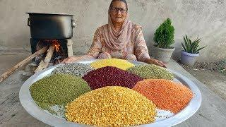 MIX DAL!!! PUNJABI STYLE DAL RECIPE | VILLAGE COOKING | RECIPES | RESTAURANT STYLE | AT HOME