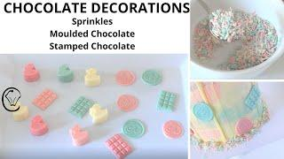 DIY Chocolate Sprinkles moulded Chocolate and Chocolate Decorations for Cakes and Desserts CHEAP AS!